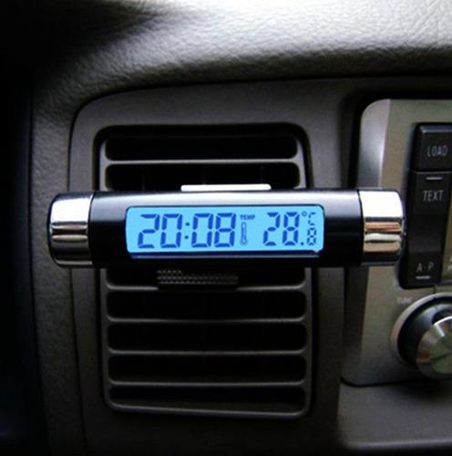 genial reloj termómetro digital k01 - ideal auto / bigbull