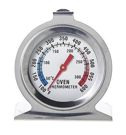 genial termómetro para horno - acero inoxidable