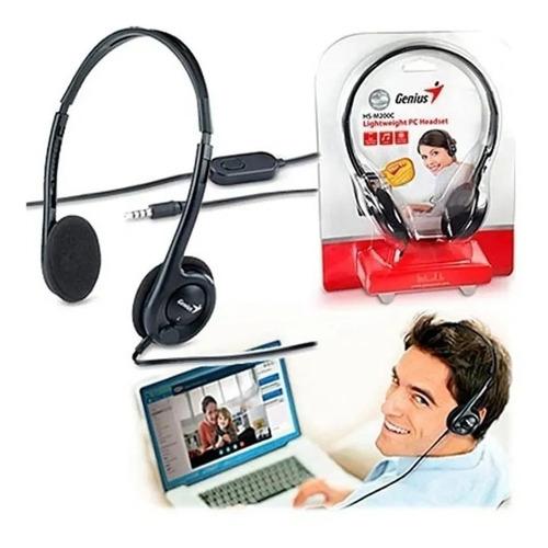 genius auricular microfono hs-m200c 1conector 3.5 zoom skype