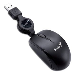 genius mouse optico retractil micro traveler usb negro