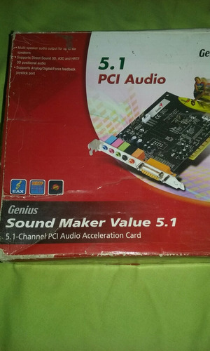 genius placa de audio 5.1