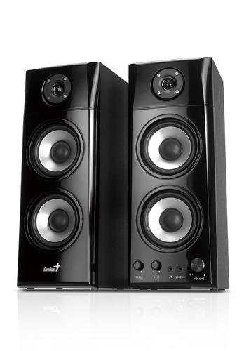 genius sp-hf1800a 50 w altavoces de madera hi-fi de tres vía