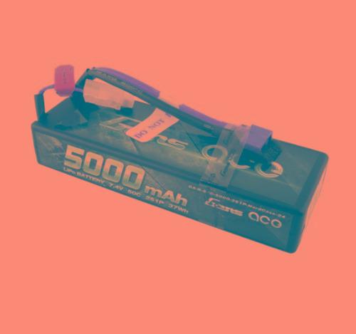 gens ace 5000mah 7.4v 2s 50c 100c hardcase rc lipo batería p