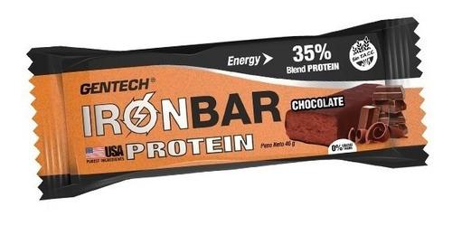 gentech ironbar protein caja x 20 barras proteicas