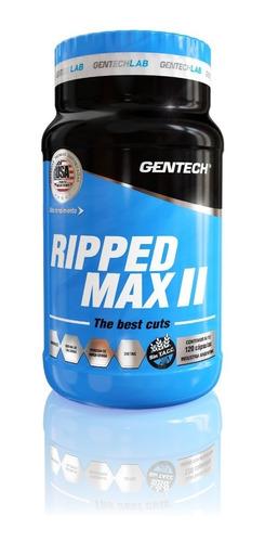 gentech ripped max ii new 60 cap quemador grasa suplemento