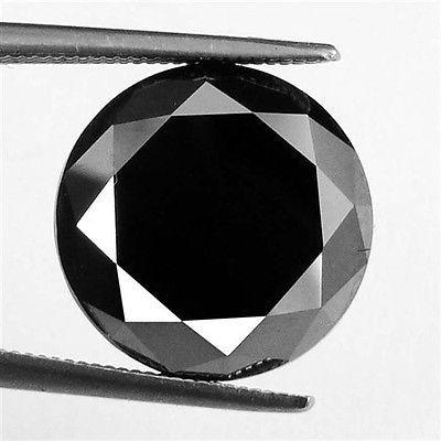 genuino diamante negro jet 3.40 qt certificado