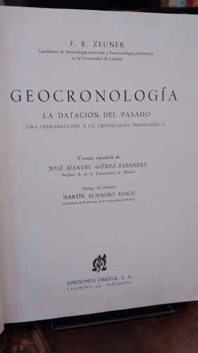 geocronología - f. e. zeuner