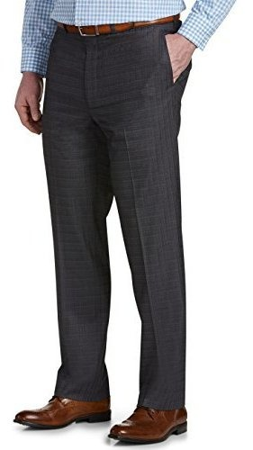 Geoffrey Beene Big and Tall Multi Grid Flat-Front Suit Pants