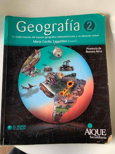 geografía 2 de maría cecilia zappettini editorial arique