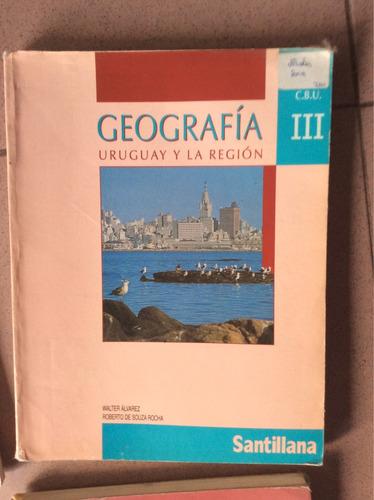 geografía de tercero de liceo. santillana