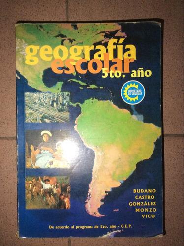 geografía escolar quinto año