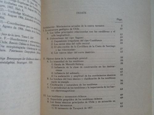 geología sísmica de chile - juan bruggen - 3 mapas - 1944
