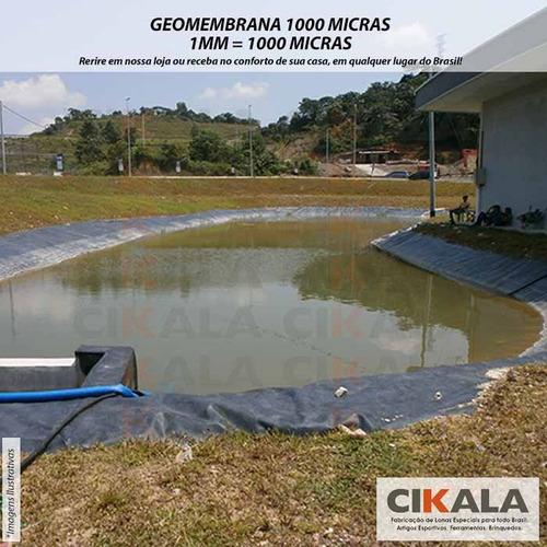 geomembrana 1000 micras expansível piscicultura lagos peixes