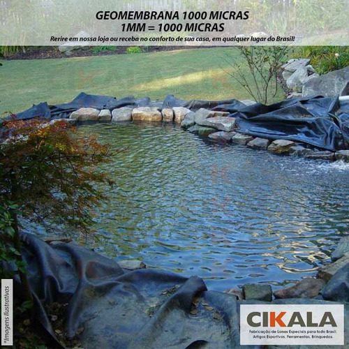 geomembrana 1000 micras piscicultura lago tanque 10,5x3,5 m