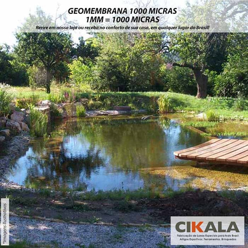 geomembrana 1000 micras piscicultura lago tanque 5,25x7 mts