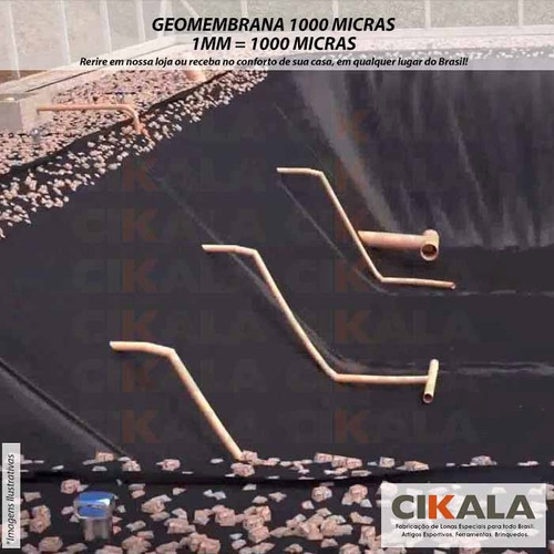 geomembrana 1000 micras piscicultura lago tanque 9x6 mts