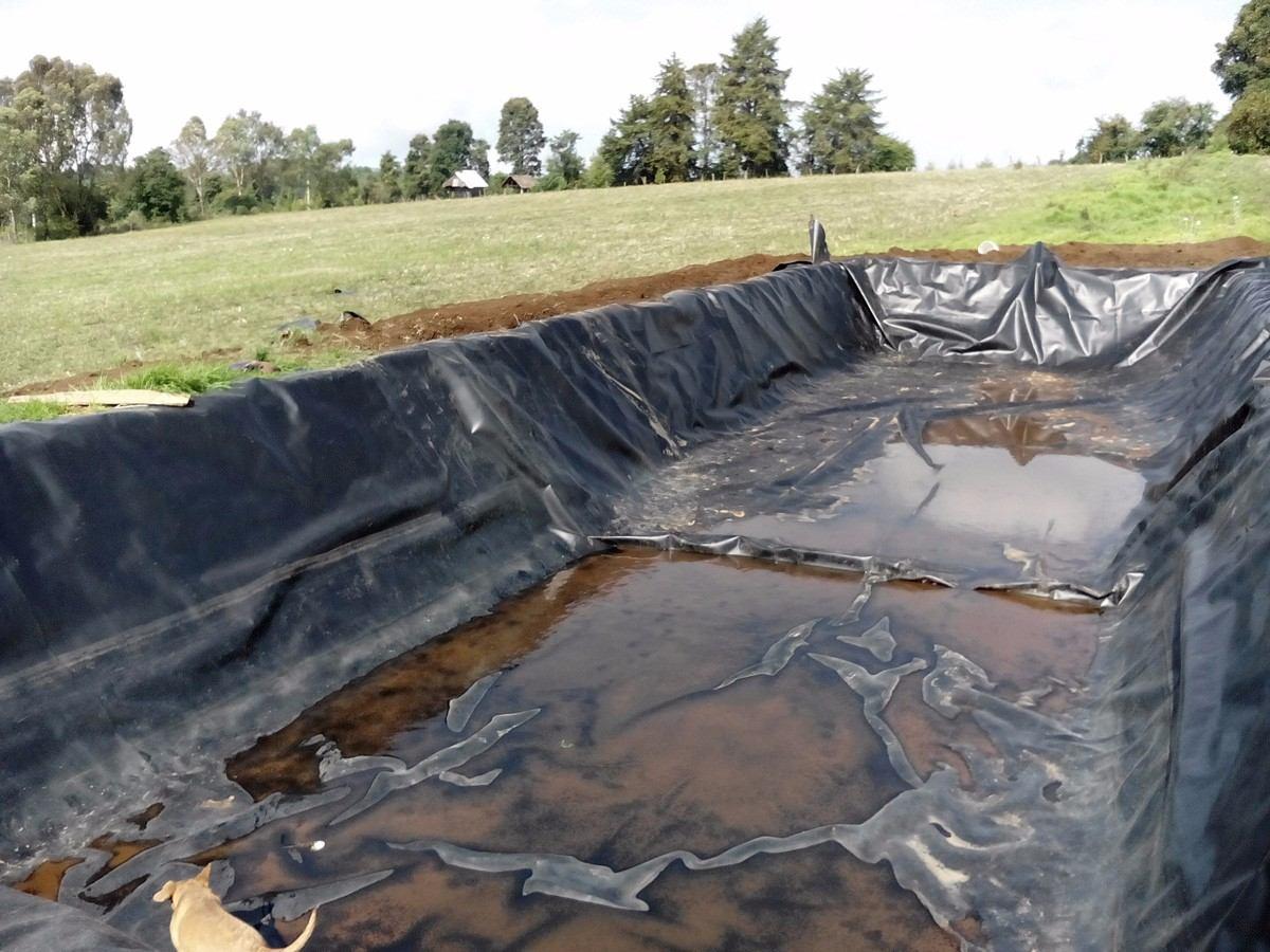 Geomembrana de poli tileno alta densidad pead calibre 40 for Geomembrana para estanques de agua