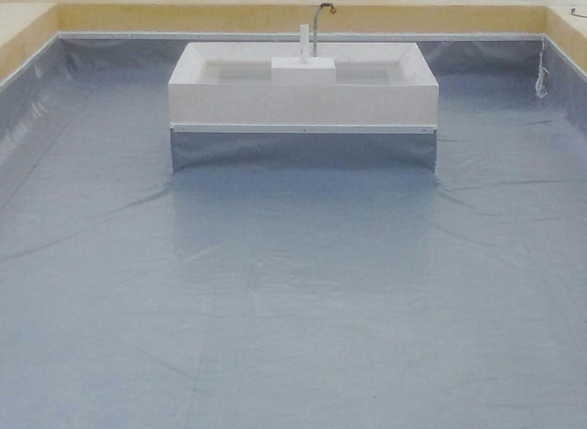 Geomembrana pvc rollo 80 m2 color gris 6 for Hule para estanque