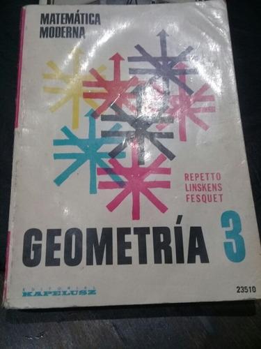 geometría 3 matemática moderna libro usado en excelen estado