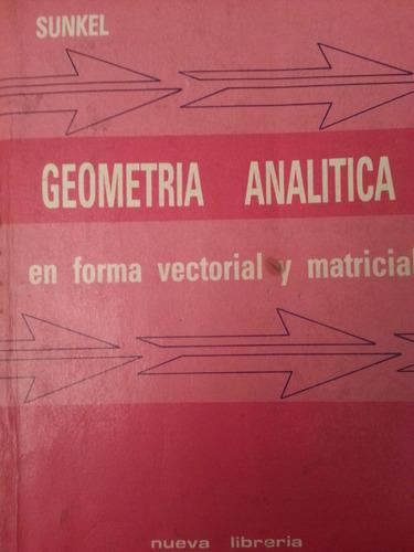 geometria analitica en forma vectorial y matricial sunkel