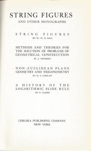 geometría de cuerdas y otros ensayos sobre geometría.