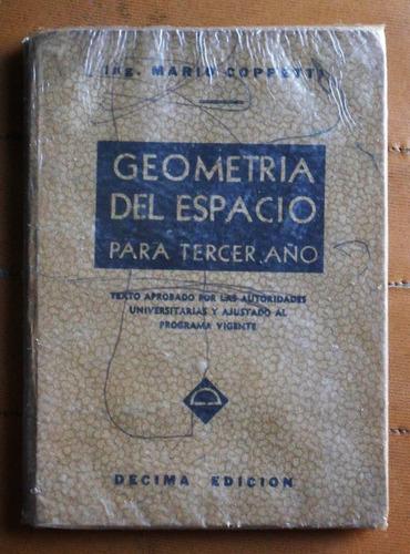 geometría del espacio para tercer año / mario coppetti