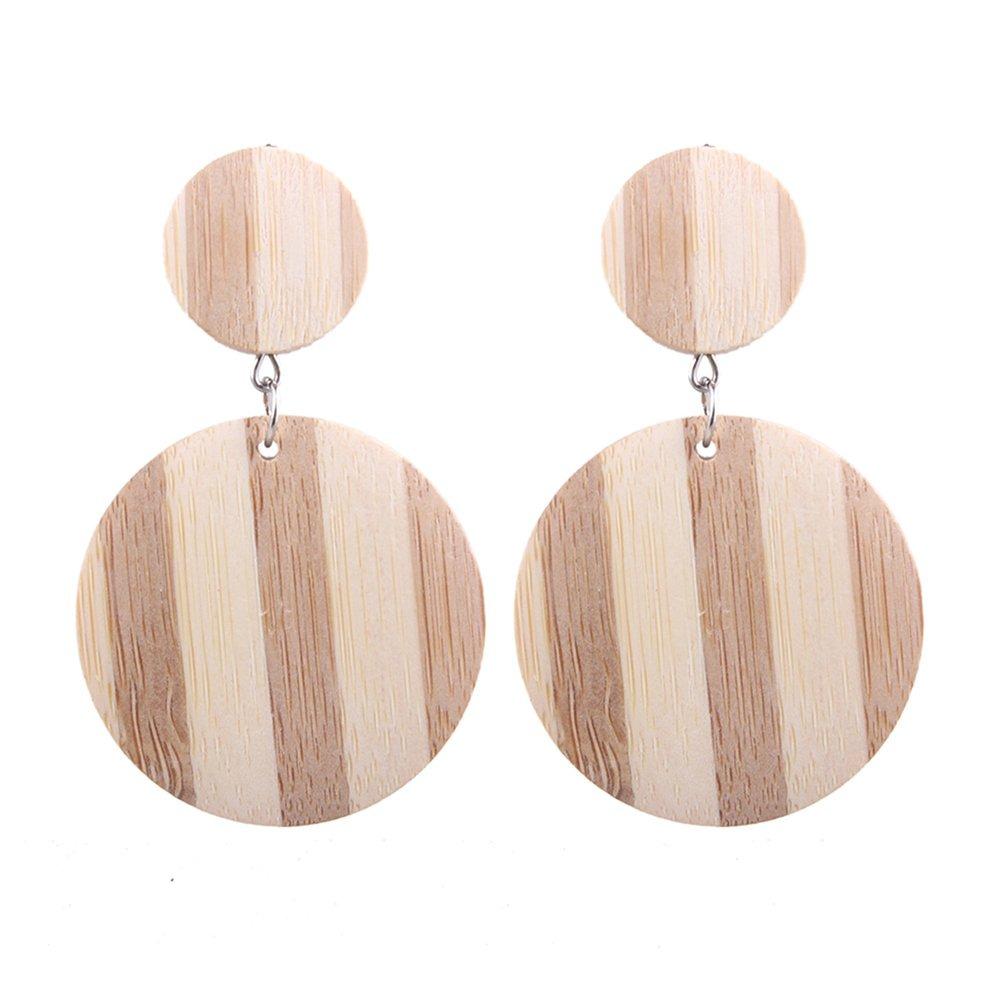 756b453385b9 geométrico grande pendientes madera exagerada pendientes e2. Cargando zoom.