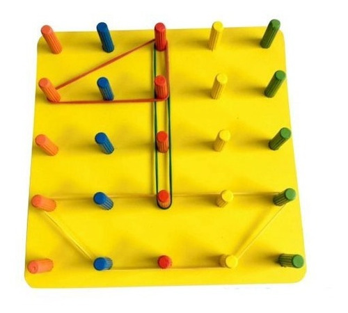 geoplano juguete didáctico educativo madera