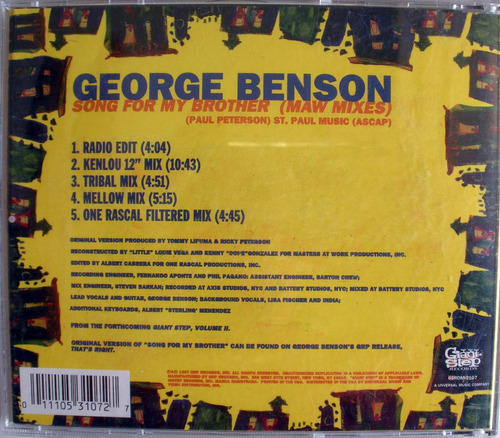 george benson - song for my brother - cd maxi imp. usa