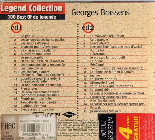 george brassens - legend collection -2cd *