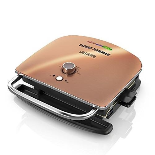 george foreman grill & ase, 4-en-1 parrilla eléctrica cubier