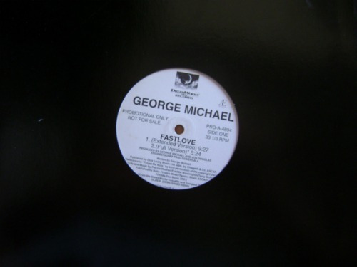 george michael- fastlove/ i´am your man 96-  acetato mix -