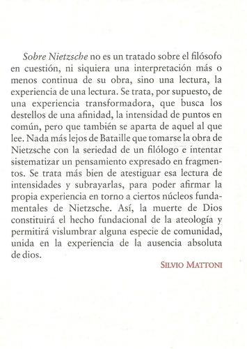 georges bataille. sobre nietzsche. suma ateológica iii