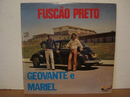 geovante e mariel-lp-vinil-fuscão preto-sertanejo-forró-mpb