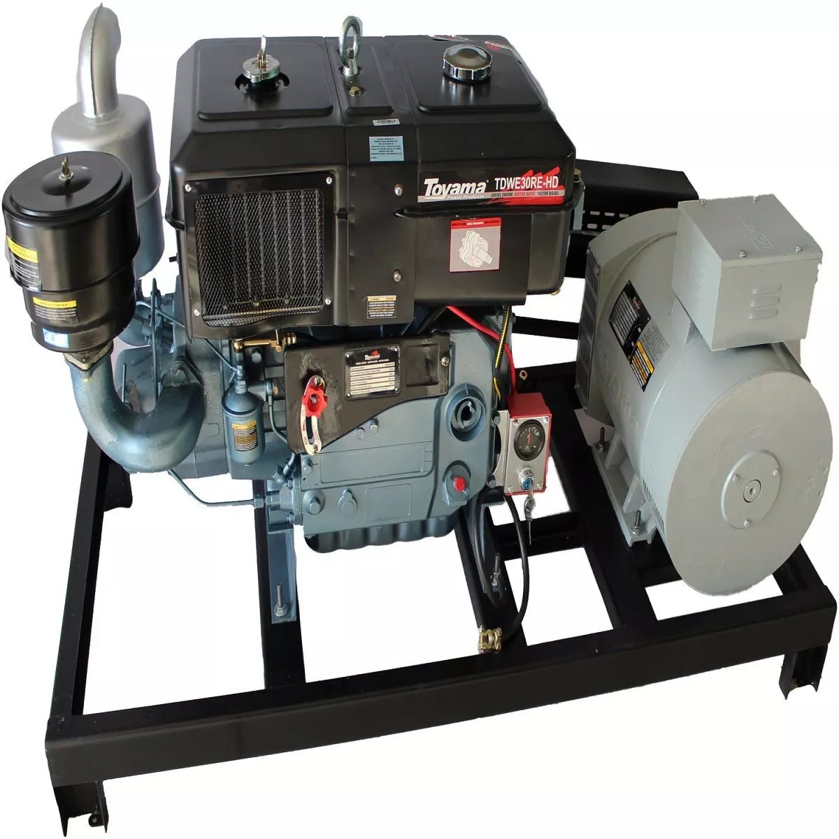 b7bb1856d1b Gerador 20 Kva Trifásico 110 220 380v Com Motor 30hp Diesel - R ...