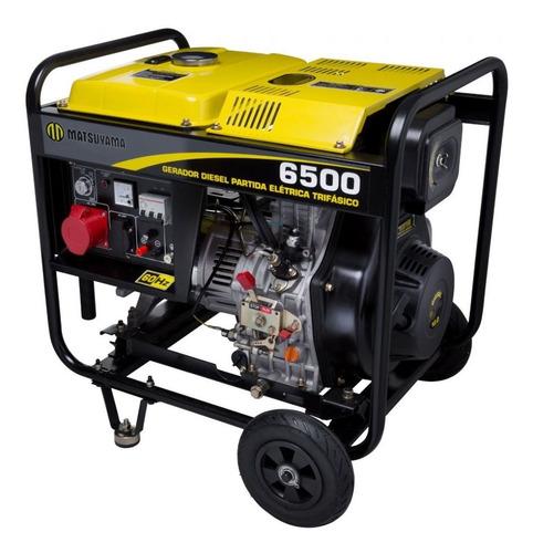 gerador 6.500 diesel partida elétrica 5.5kva trifásico 220v