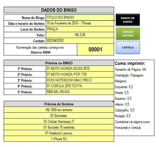 Gerador De Bingo Gera Até 10mil Cartelas 5 Premios - R  28 ffd7484e4ddbd