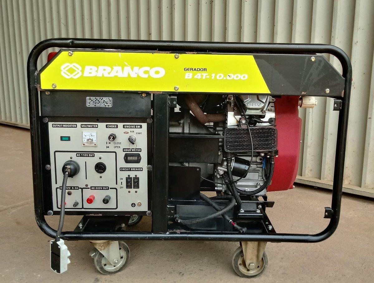 Gerador De Energia 10 Kva 110/220 V Bifásico Motor 20 Hp Gas