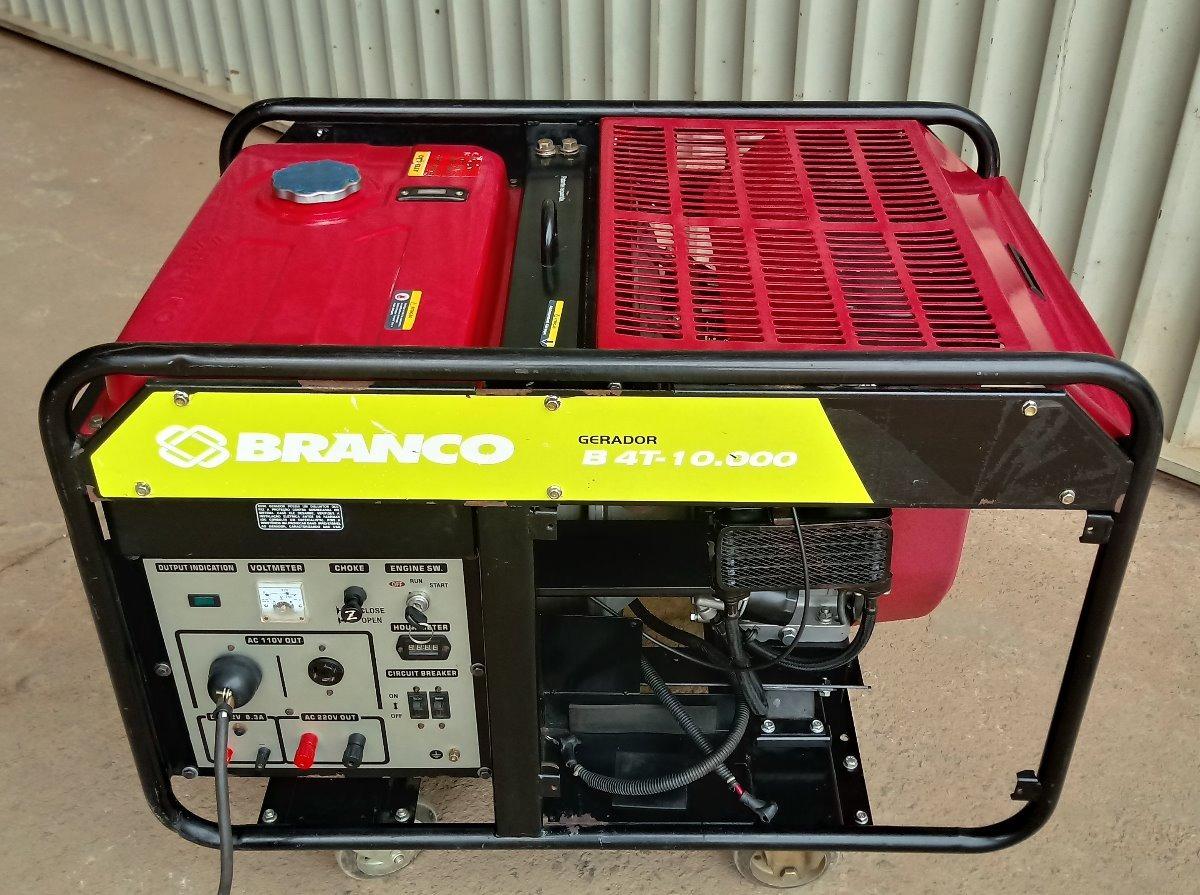 6334a6c034c Gerador De Energia 10 Kva 110 220 V Monof Motor 20 Hp Branco - R ...