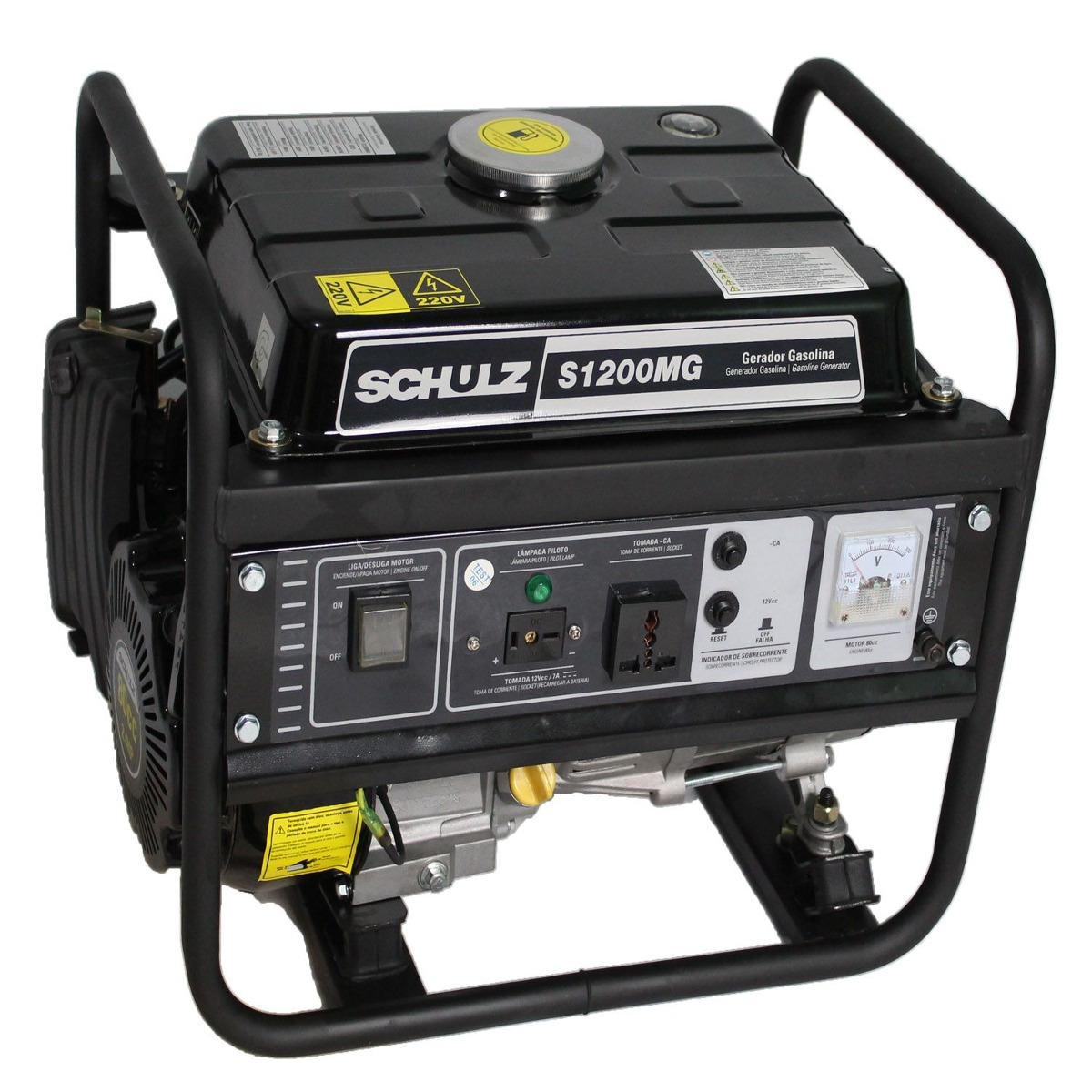 d176c7d1fca Gerador De Energia Gasolina 4t 1200 Somente 220v Schulz - R  799