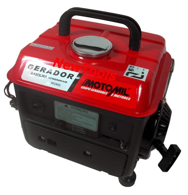 a30fdbf3df9 gerador de energia gasolina mg 950 800w 220v e 12v motomil. Carregando zoom.