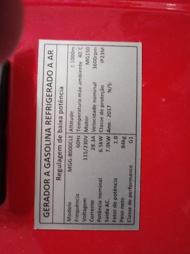 gerador de energia motomil mgg 8000 4 t 8.0kva 110/220v