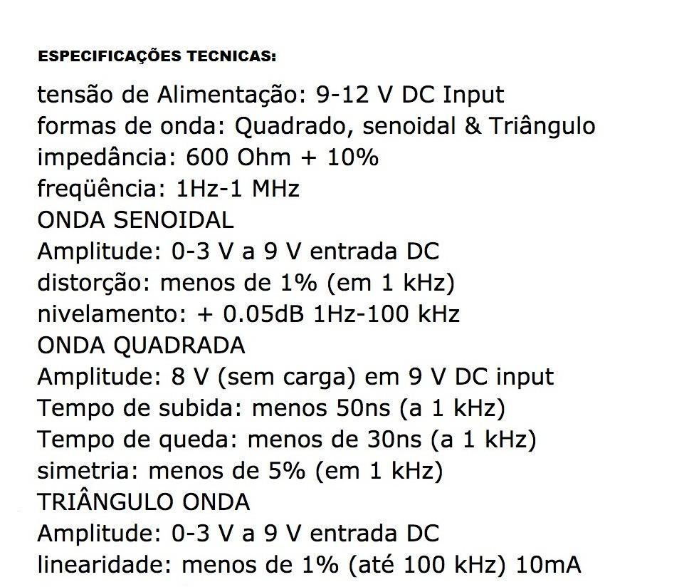 Circuito Xr2206 : Gerador de funções hz mhz xr r em mercado livre