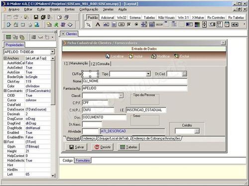 gerador de sistemas delphi - trabalha c/ todos o bds