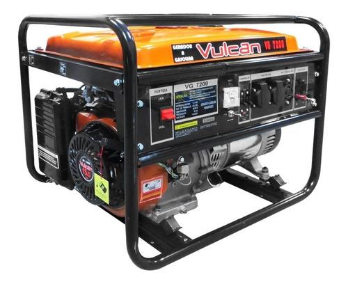 gerador energia gasolina 7200w 15hp 439cc 25l vulcan vg7200