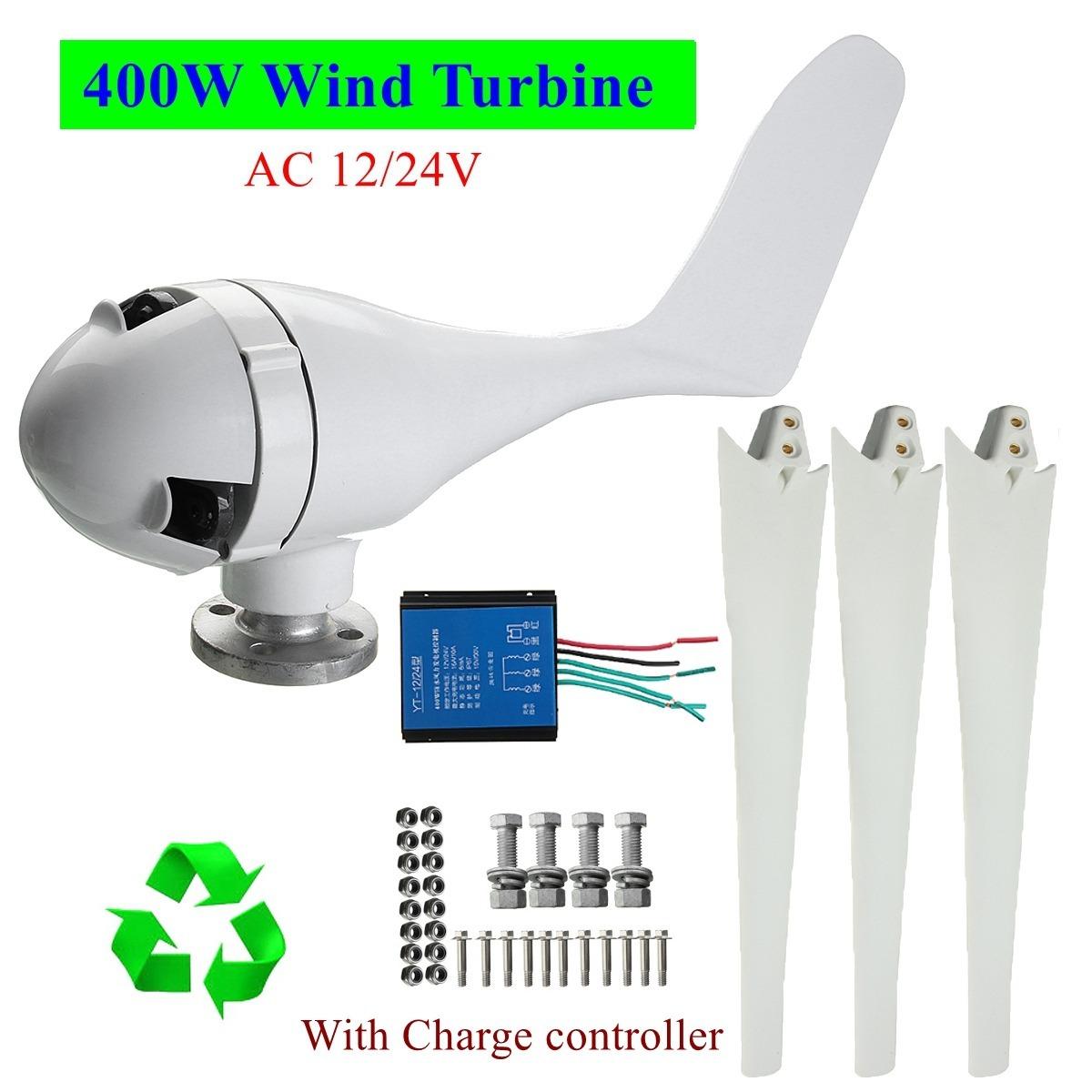 2c02bf3f161 Gerador Eólico 24v 400w Com Controlador De Carga-aerogerador - R ...