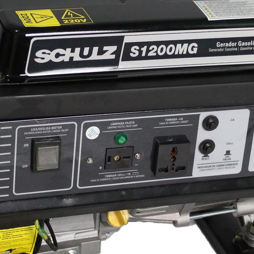 gerador gasolina 1200 somente 220v preço baixo schulz zero