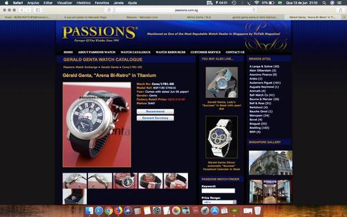 gèrald genta para quem conhece relógios automático titânio