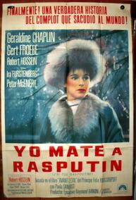 Geraldine Chaplin Mate Rasputin Afiche Cine Orig 1967 M362