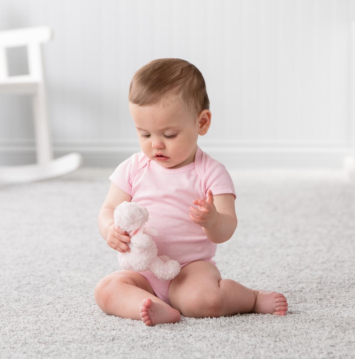 Gerber Bebés Paquete De 5 Onesies Sólido De Color Rosa 0 ...